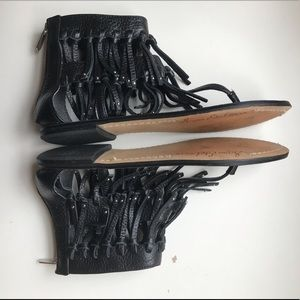 4e009776e1d7 Sam Edelman Griffin fringe gladiator sandals